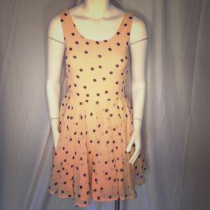 Short Flare Polka Dot Dress